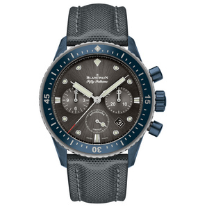 View Blancpain Watches Fifty Fathoms Bathyscaphe Chronographe Flyback Ocean Commitment II