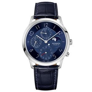 Hermès Watches : Slim d'Hermès Quantième Perpétuel Platine