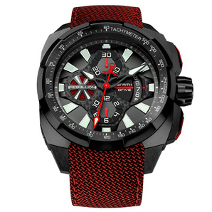 Rebellion Watches : Wraith Drive Red Black