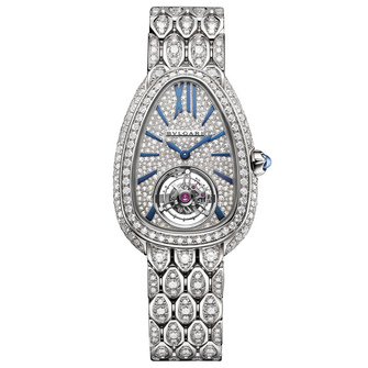 Bvlgari Serpenti Seduttori Tourbillon White Gold Full Diamonds
