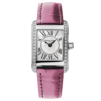 Frederique Constant Classics Carrée Ladies Pink Ribbon Special Edition