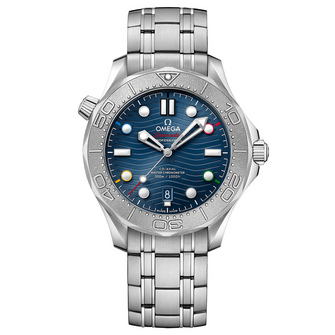 """Omega Seamaster Diver 300M Co-Axial Master Chronometer """"Beijing 2022"""" Special Ed"""