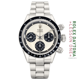 """THE 6263 SS """"PANDA OYSTER COSMOGRAPH PAUL NEWMAN"""" WITH BROWNISH TRACK"""