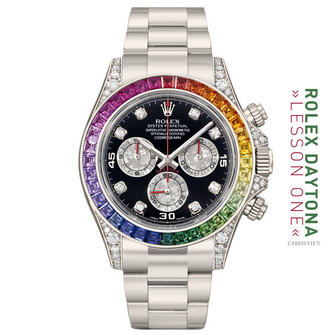 """THE 116599RBOW 18K WG """"MULTICOLOURED SAPPHIRE OYSTER PERPETUAL COSMOGRAPH"""" AKA """"THE WHITE RAINBOW"""""""