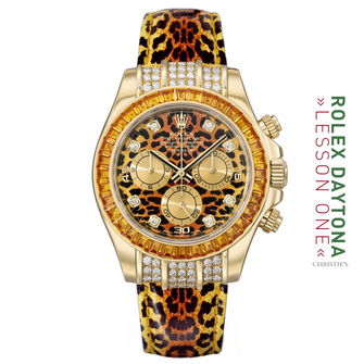 "THE 116589SACO 18K ""YELLOW SAPPHIRE OYSTER PERPETUAL COSMOGRAPH"" AKA ""THE 'LEOPARD"""