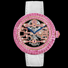 Jacob & Co. Brilliant Art Deco Pink Sapphire