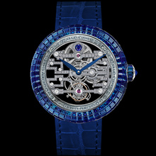 Jacob & Co. Brilliant Art Deco Blue Sapphire