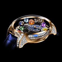 Jacob & Co. Astronomia Solar Baguette Jewelry Planets Zodiac Rose Gold