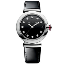 Bvlgari Lvcea Steel Black Lacquered Dial