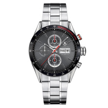 tag heuer carrera calibre 16 chronograph day date monaco grand prix cv2a1m.ba0796 face view