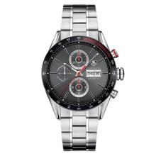 tag heuer carrera calibre 16 chronograph day date monaco grand prix cv2a1m.ba0796 face view