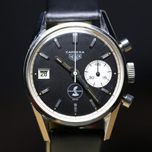 Heuer Carrera 45 Dato Cobra Shelby Later Black 3147