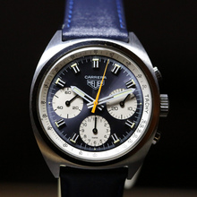 Heuer Carrera 73653 N Blue White Dial 7733