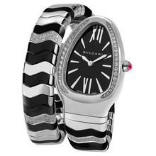 bulgari serpenti spiga steel ceramic black