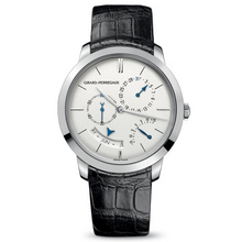 T GP1966 Annual calendar and equation of time white gold