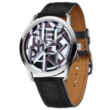 Slim d Hermes Perspective Cavaliere grey toned dial black alligator
