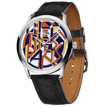 Slim d Hermes Perspective Cavaliere yellow toned dial black alligator