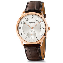 Slim 39.5mm rose gold havana alligator Calitho