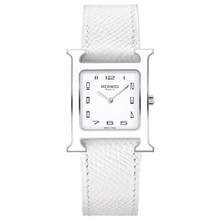Heure H MM white lacquer case white strap