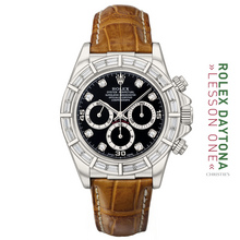 """THE 16589 18K WG """"BAGUETTE SET OYSTER PERPETUAL COSMOGRAPH"""" AKA """"THE GLITTER ROAD"""""""