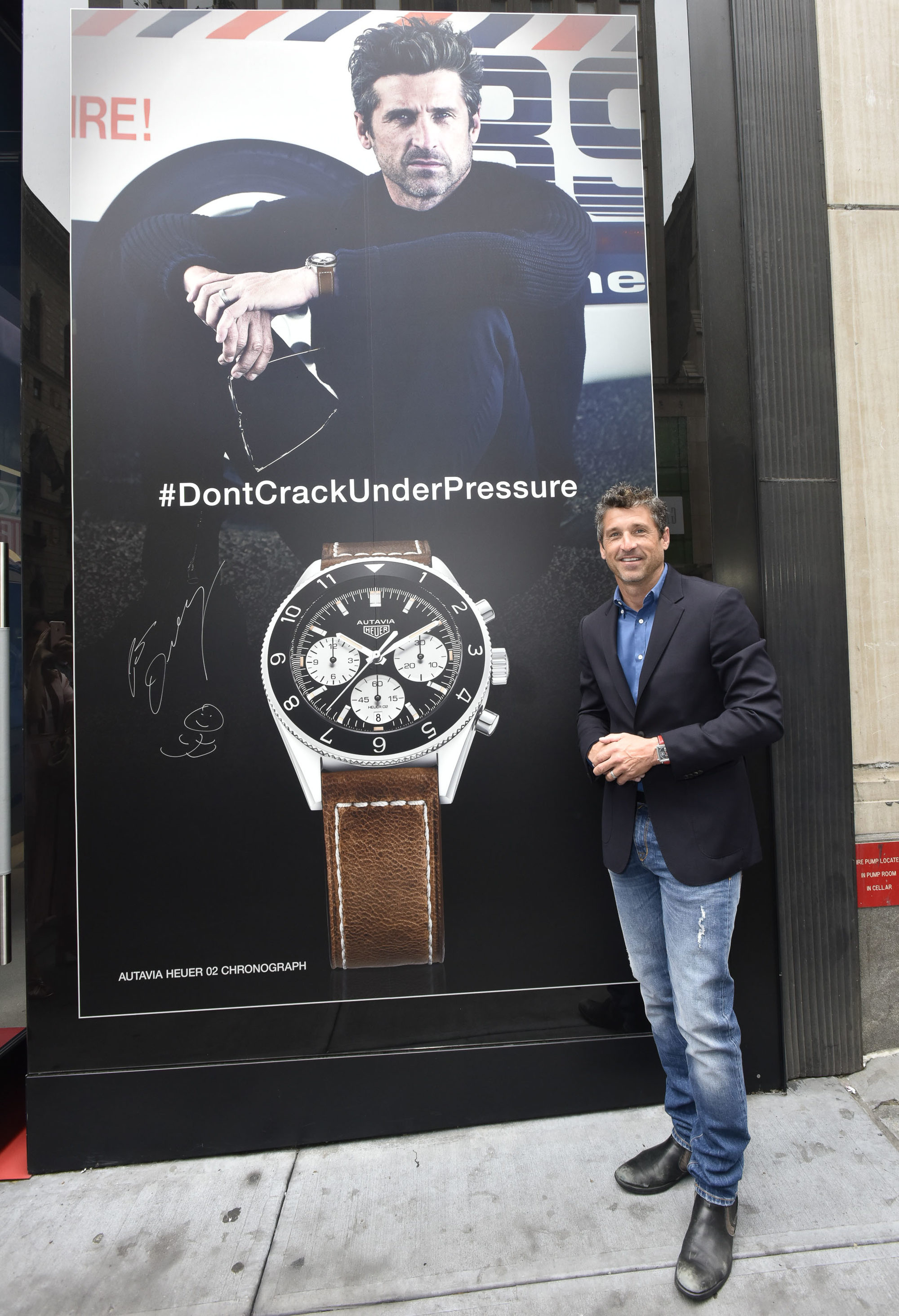Tag Heuer And Brand Ambassador Patrick Dempsey Cruise Through Time