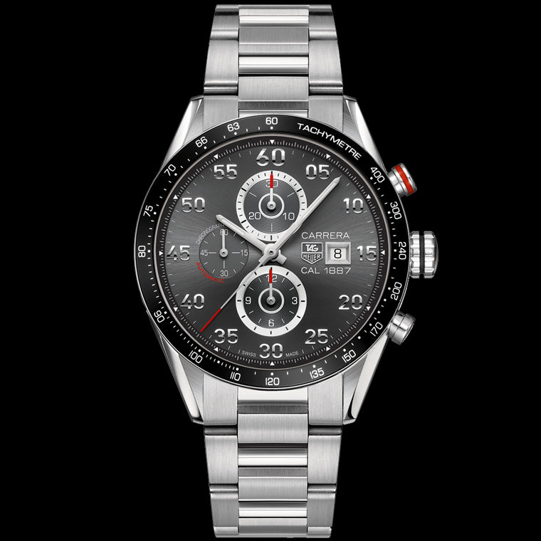 carrera calibre 1887 automatic chronograph 43mm tag heuer. Black Bedroom Furniture Sets. Home Design Ideas