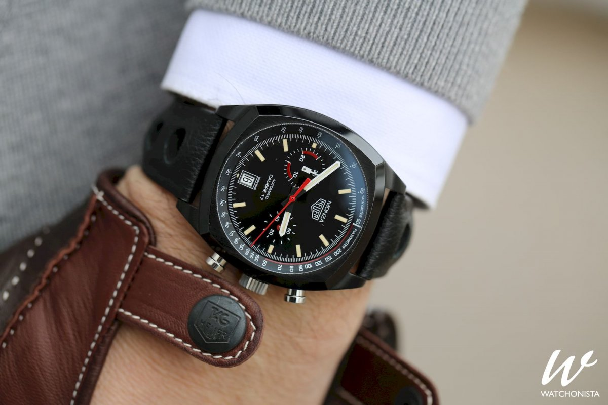 Tag Heuer The Best Of Its Ever Evolving Collections Watchonista Space Leather Monza Chronograph