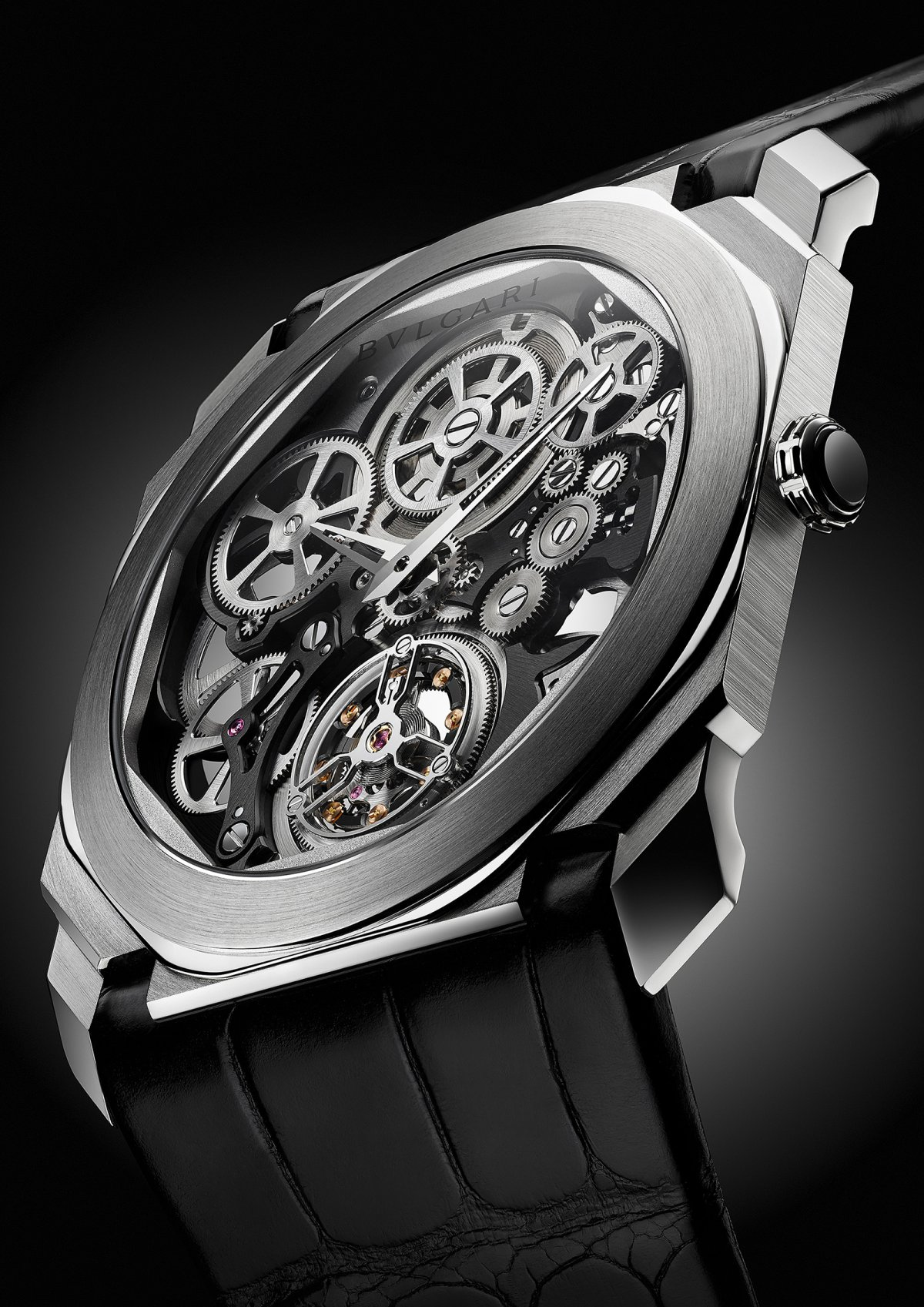 Bvlgari s expertise, expressed here in the platinum version of the Octo  Finissimo Tourbillon Skeleton, lies in the architectural dimension the  watchmakers ... d79242d4c2e