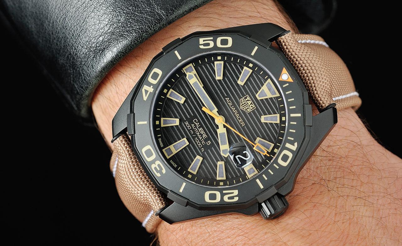 03e84dfa983 Hands-on the TAG Heuer Aquaracer 300m Calibre 5 Black Titanium ...