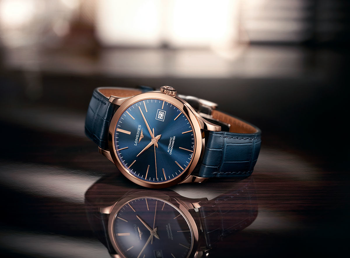 8a48790022e The Longines Record collection goes for gold